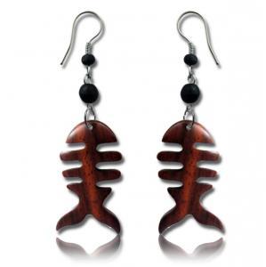 Fishbone, Handgjorda Örhängen i trä