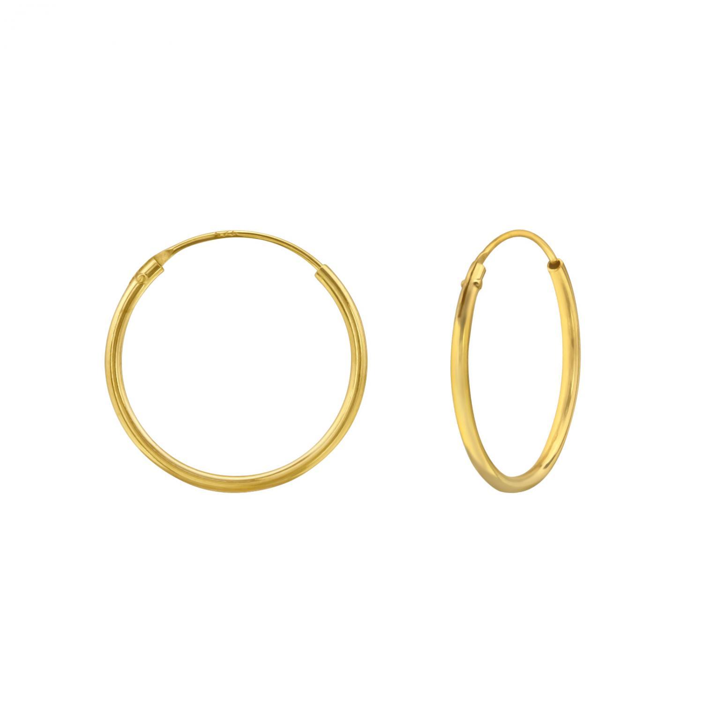Hoops - Guldpläterat silver - 16 mm