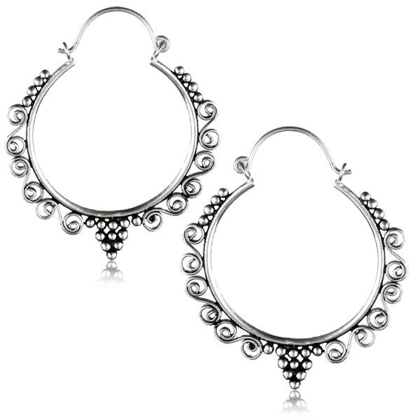Silverpläterade Örhängen - Ringar