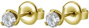Stiftörhängen - Kristaller - Guldpläterat Kirurgiskt stål - 4mm