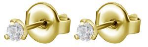 Stiftörhängen - Kristaller - Guldpläterat Kirurgiskt stål - 2mm