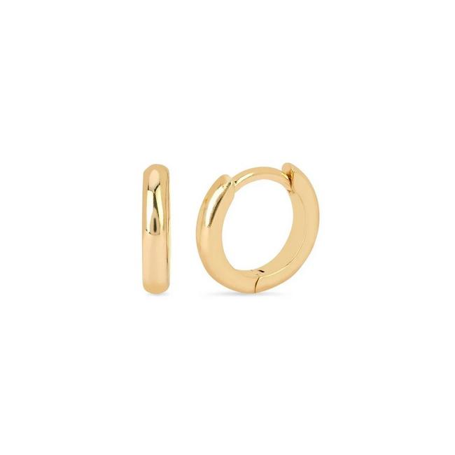 Huggie örhängen - 18k - guldpläterade ringar