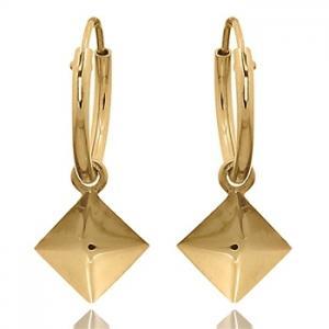 Hoops Örhängen - Guldpläterat silver - Fyrkant