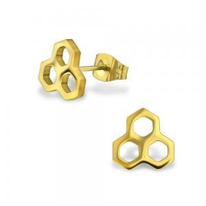 Örhängen - Honeycomb - Kirurgiskt stål