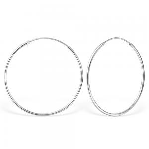 Hoops - 40 mm - Äkta Silver