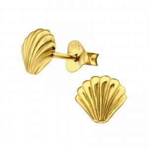 Snäckörhänge i guldpläterat äkta silver.