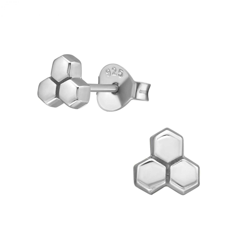 Silverörhängen - Honeycomb
