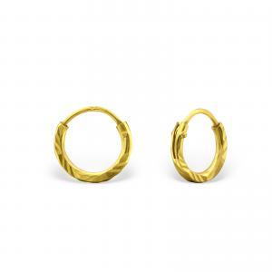 Små ringar - 6 mm - Guldpläterat silver