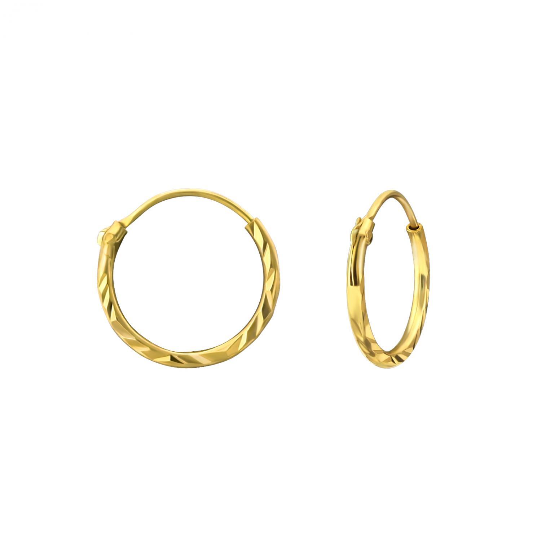 Hoops - Guldpläterat silver