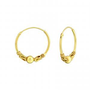 Bali Hoops - Guldpläterat silver