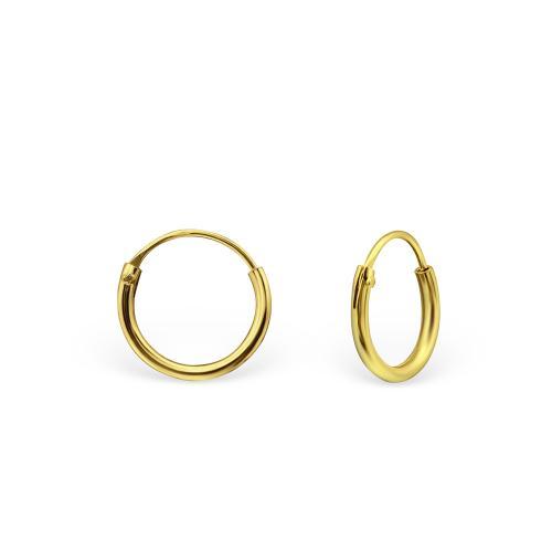 Guldringar - Hoops - Guldpläterat silver - 10 mm