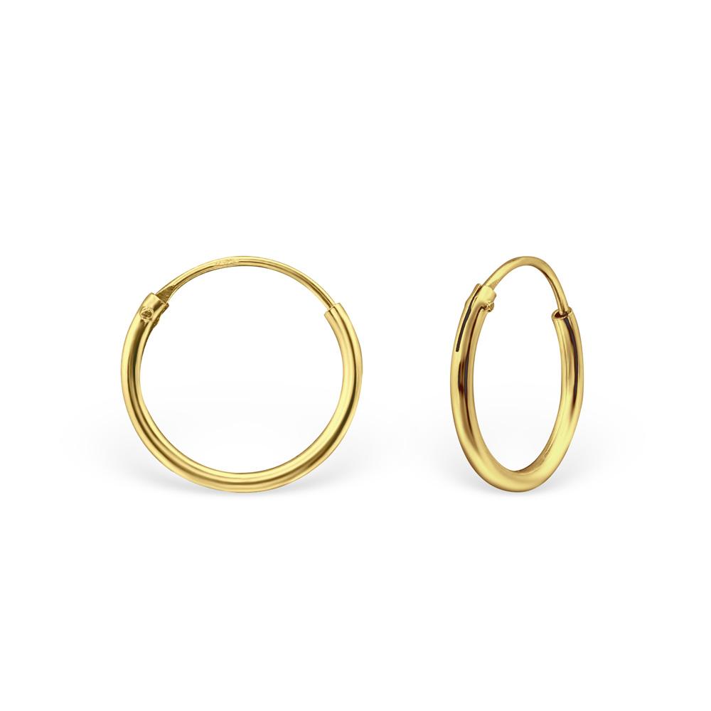 Hoops - Guldpläterat silver - 12 mm