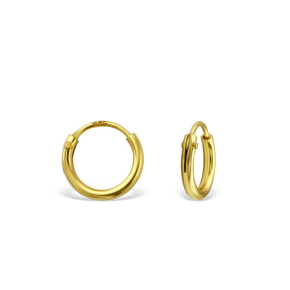 Hoops - Guldpläterat silver - 6 mm