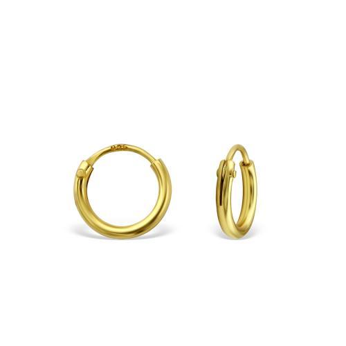 Guldringar - Hoops - Guldpläterat silver - 8 mm
