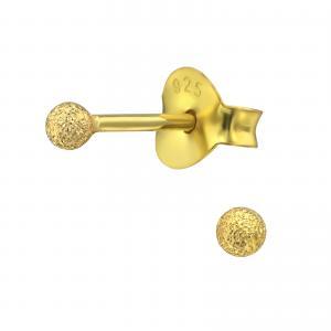 Örhängen - Guldig Kula 2mm
