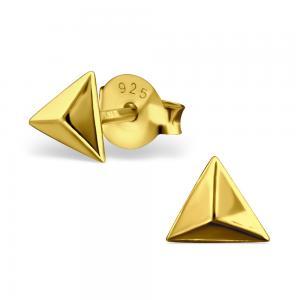 Örhängen - Golden Pyramid