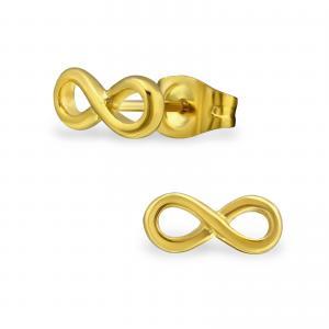 Örhängen - Guldiga stiftörhängen - Infinity