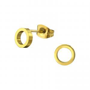 Örhängen - Guldig Cirkel 6 mm