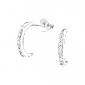 Silverörhängen - Semi Hoops