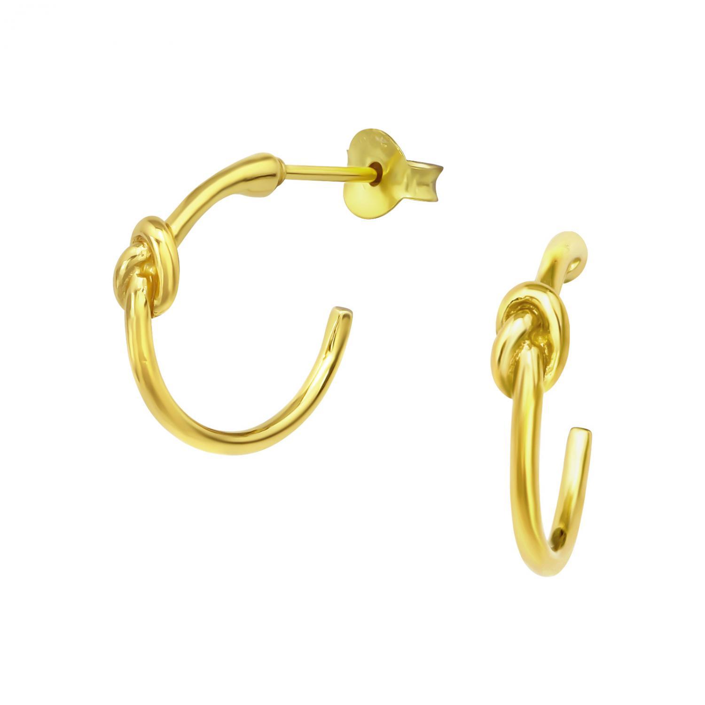 Örhängen  - Guldpläterat silver - Creoler