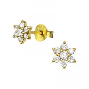 Stiftörhängen - Stjärna - Guldpläterat silver