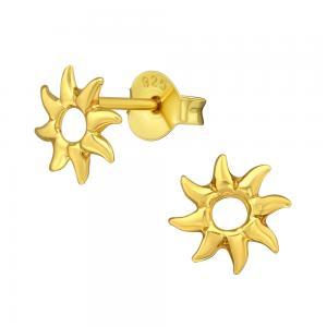 Örhängen -18k guldplätering - Sol