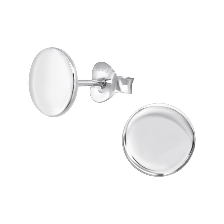 Silverörhängen - Platt disk
