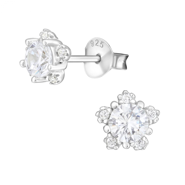 Kristallörhängen - Stjärnor - Silver studs