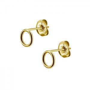 Örhängen - guldigt stål - Circle 8mm