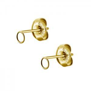 Örhängen - Guldig Cirkel 5mm