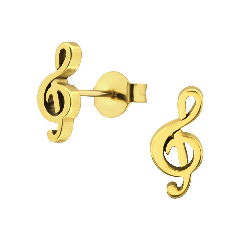 Guldörhängen - 24k-guldplätering  - G-klav
