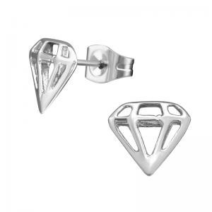 Diamant - Stiftörhängen - Studs i Kirurgiskt stål