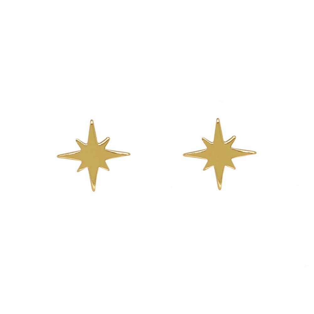 Stjärna - Guldörhängen -18k guldplätering
