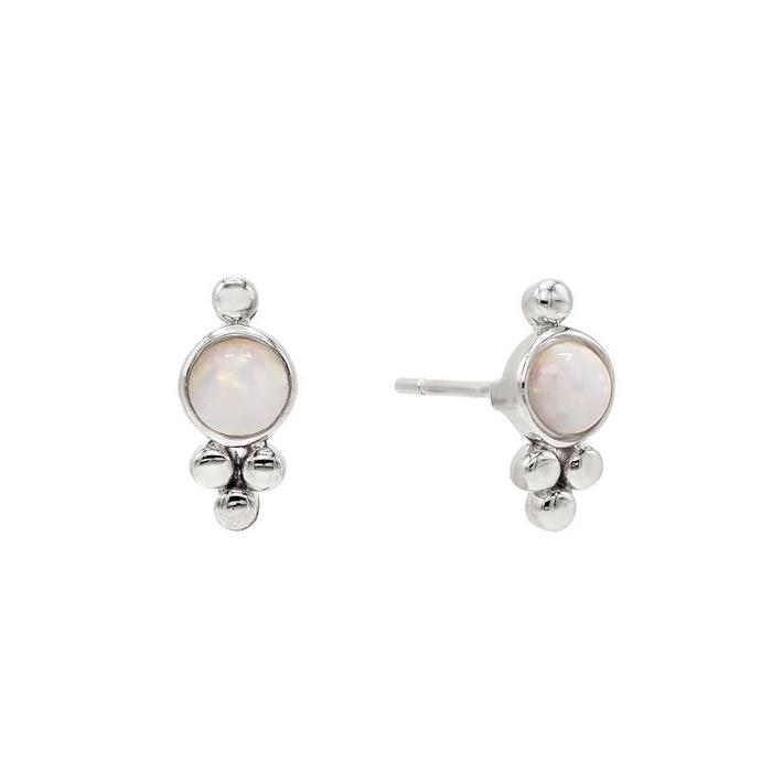 Örhängen - Vit opalit - Äkta silver