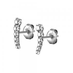 Stiftörhängen - Kristall Cluster - Kirurgiskt stål