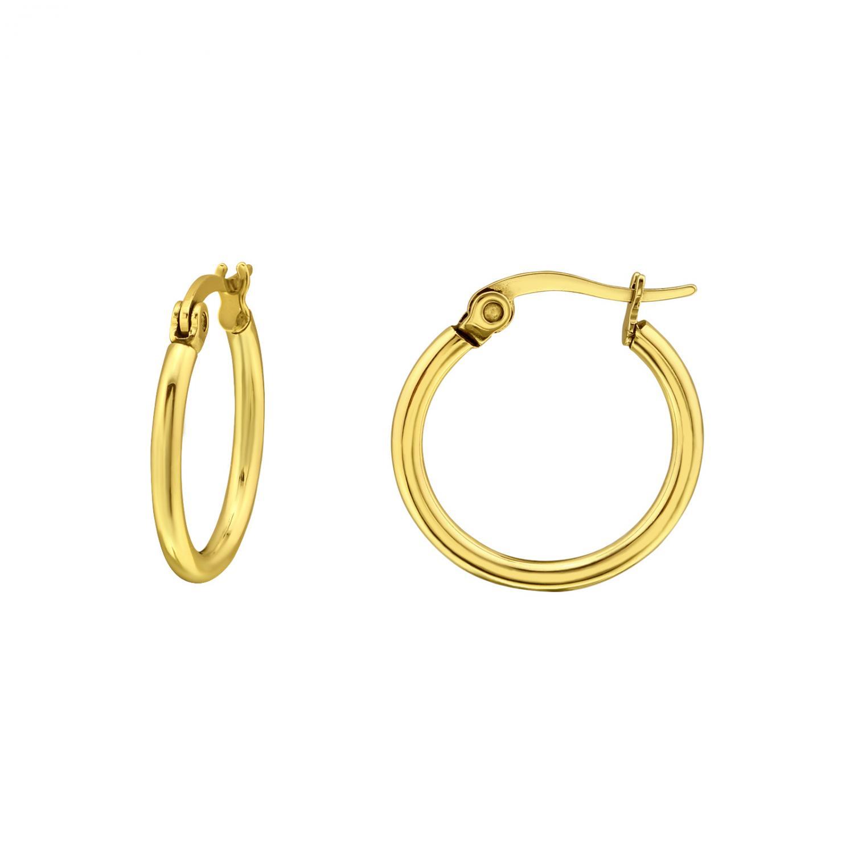 Hoops Ringar - Guldiga Creoler i kirurgiskt stål