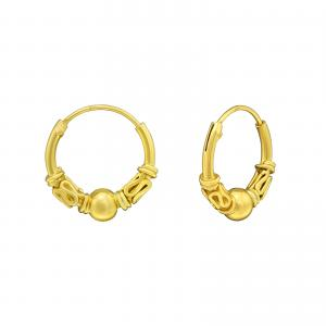 Ringar - Bali Hoops - Guldpläterat silver