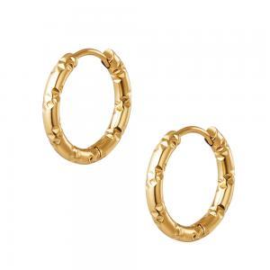 Huggie örhängen - 18k-guldplätering - Creoler hoops i kirurgiskt stål