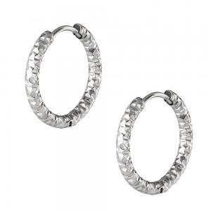 Huggie örhängen - Silver - Creoler hoops i kirurgiskt stål