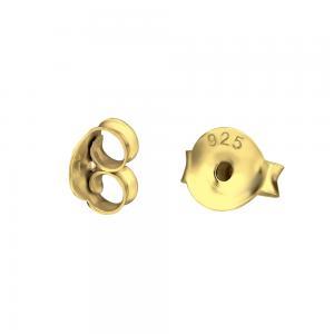 Örstopp - Baksida till stiftörhängen i guldpläterat silver