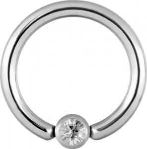 Clip-in Kula - Vit Kristall