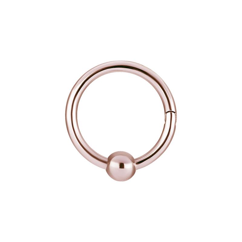 Ring med kula i roséguld - Bcr-clicker ring i kirurgiskt stål