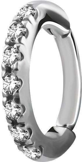 Rook Clicker - Ring i kirurgiskt Stål - Swarovski Kristaller f935d54c1d247