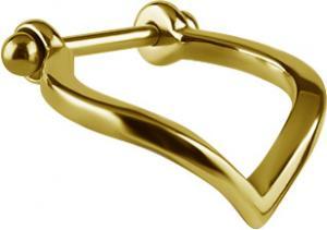 Piercingsmycke till Conch - Guldig ring