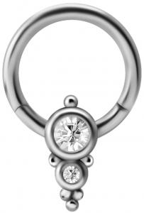 Clicker Ring - Ornament Kristall
