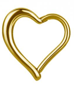 Daith Heart Clicker - Golden Steel