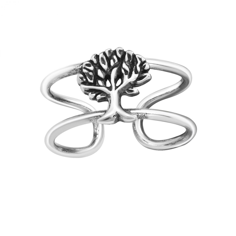 Ear cuff - Äkta silver - träd