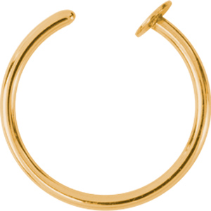 Ear cuff / Näsring - Guldpläterat kirurgiskt Stål