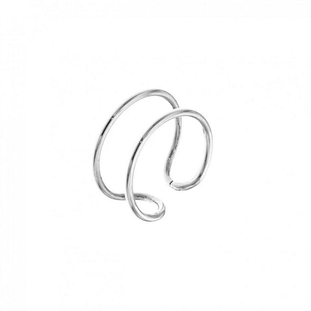 Ear cuff - Äkta silver - Tunna ringar