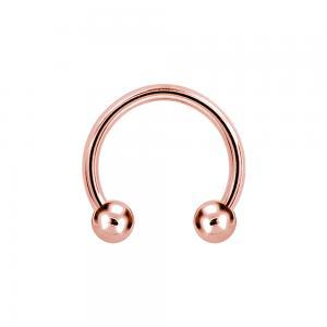 Hästsko - Ring till piercing - Roséguld